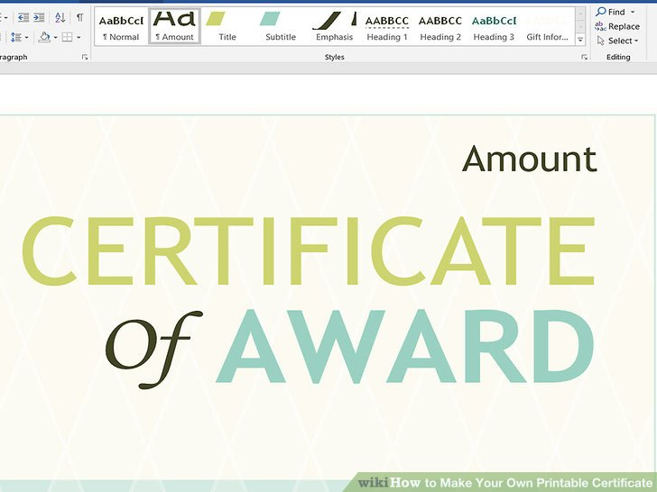 3 Ways to Make Your Own Printable Certificate - wikiHow - how to make certificates in word