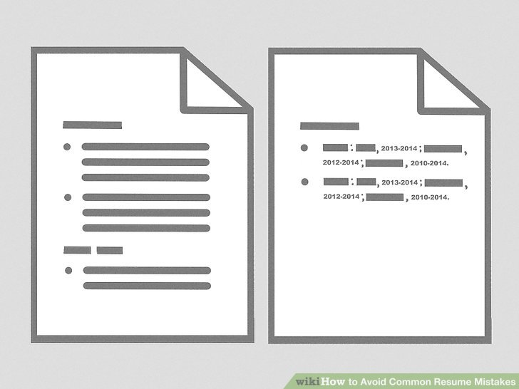 How to Avoid Common Resume Mistakes 12 Steps (with Pictures)