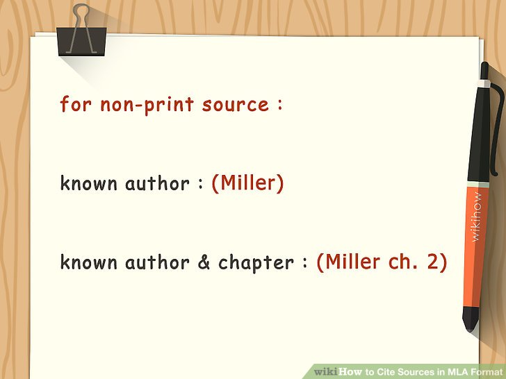 How to Cite Sources in MLA Format (with Pictures) - wikiHow - mla source format