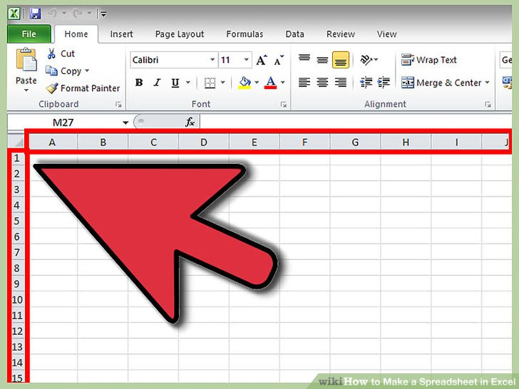 How to Make a Spreadsheet in Excel 14 Steps (with Pictures)