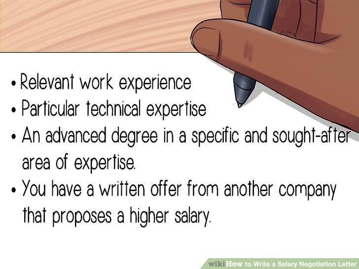 How to Write a Salary Negotiation Letter 15 Steps (with Pictures) - salary offer negotiation letter