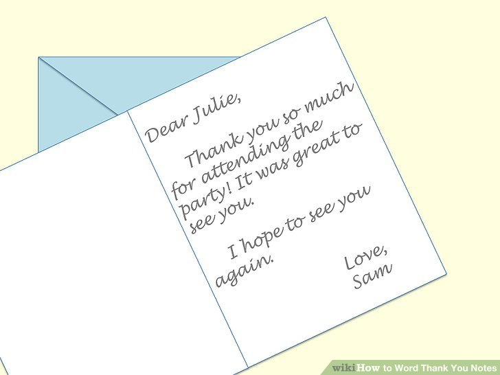 How to Word Thank You Notes 10 Steps (with Pictures) - wikiHow - thank you note
