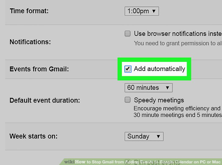 How to Stop Gmail from Adding Events to Google Calendar on PC or Mac - steps for creating a grant calendar