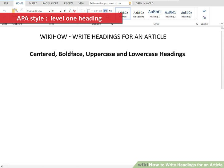 4 Ways to Write Headings for an Article - wikiHow
