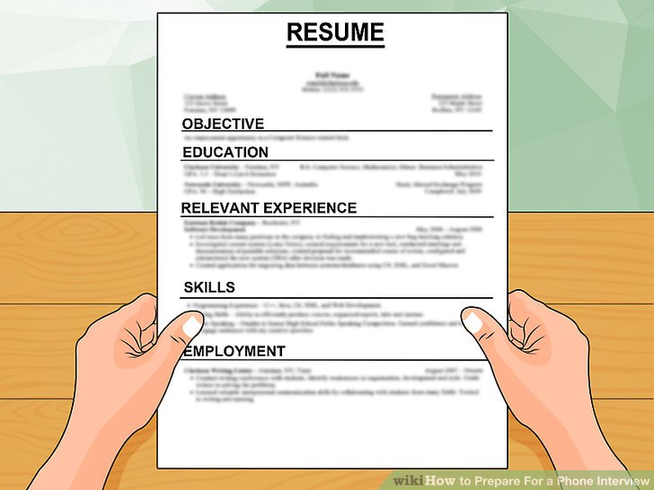 How to Prepare For a Phone Interview 12 Steps (with Pictures)