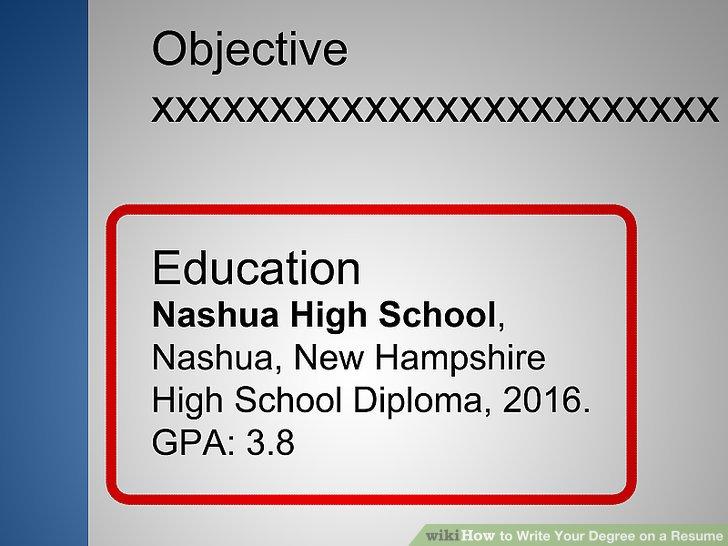 resume degree resummer co