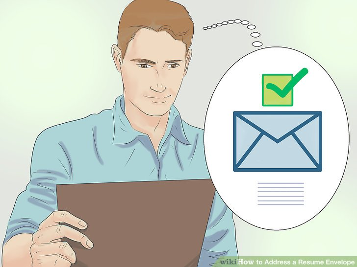 How to Address a Resume Envelope (with Examples) - wikiHow