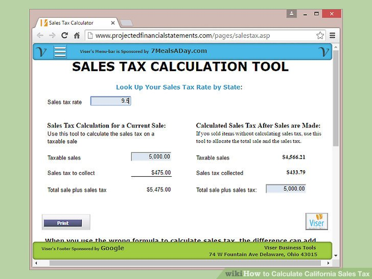 How to Calculate California Sales Tax 11 Steps (with Pictures)