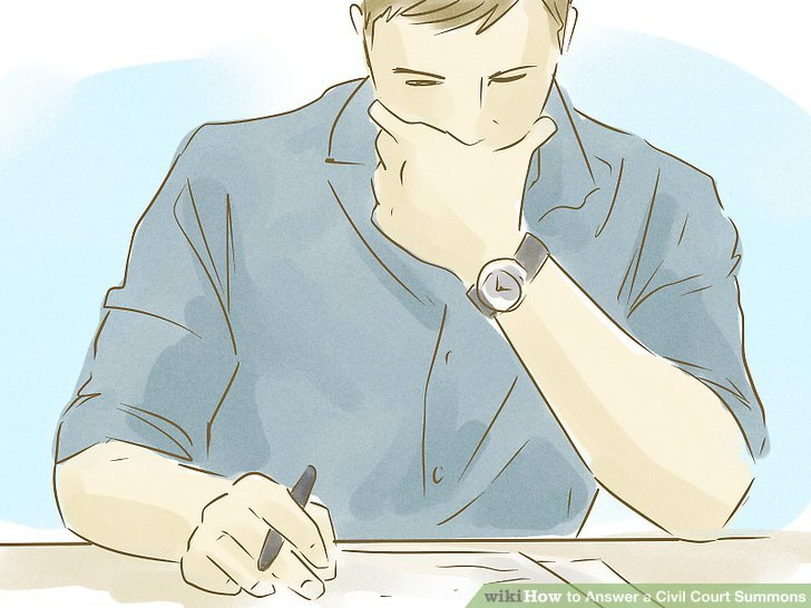 How to Answer a Civil Court Summons (with Pictures) - wikiHow