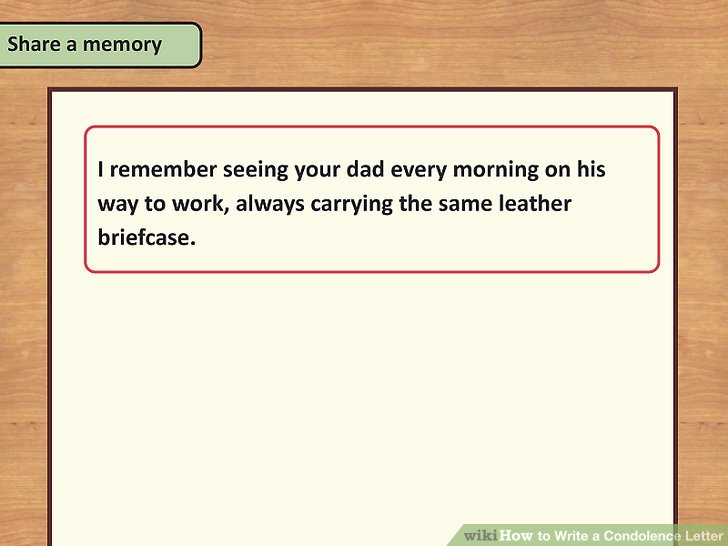 How to Write a Condolence Letter 14 Steps (with Pictures) - condolence letter example