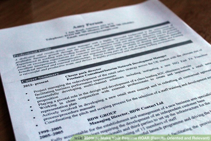 How to Make Your Resume ROAR (Results Oriented and Relevant) (with - results oriented resume