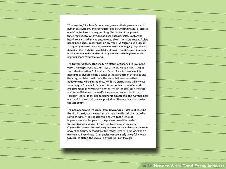 how write a good essay how to write good essay answers steps