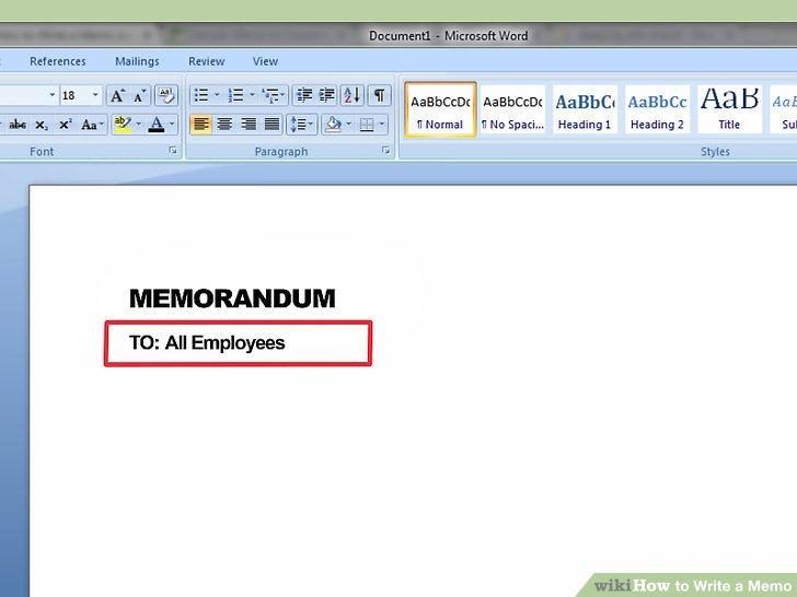 How to Write a Memo (with Pictures) - wikiHow - memo in apa format