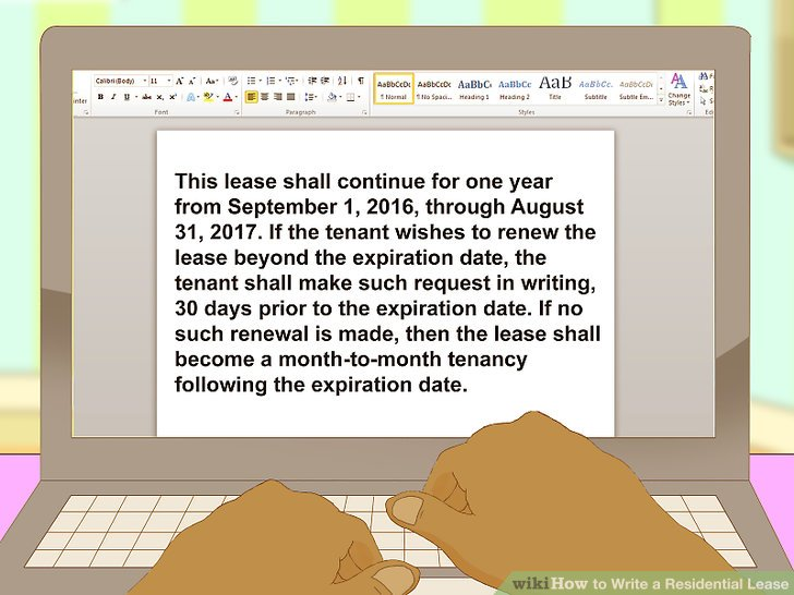 How to Write a Residential Lease (with Pictures) - wikiHow
