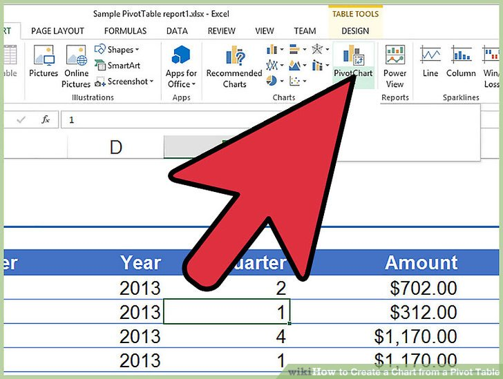 How to Create a Chart from a Pivot Table 10 Steps (with Pictures)