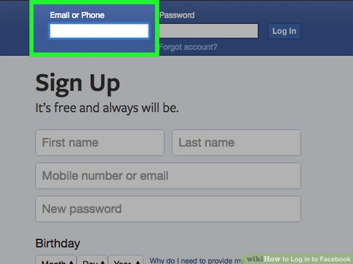 How to Log in to Facebook 9 Steps (with Pictures) - wikiHow