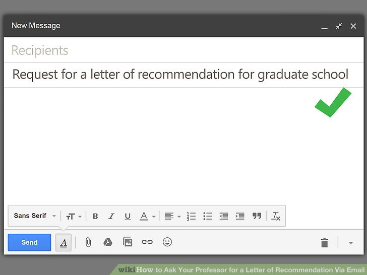 how to ask professor for recommendation letter