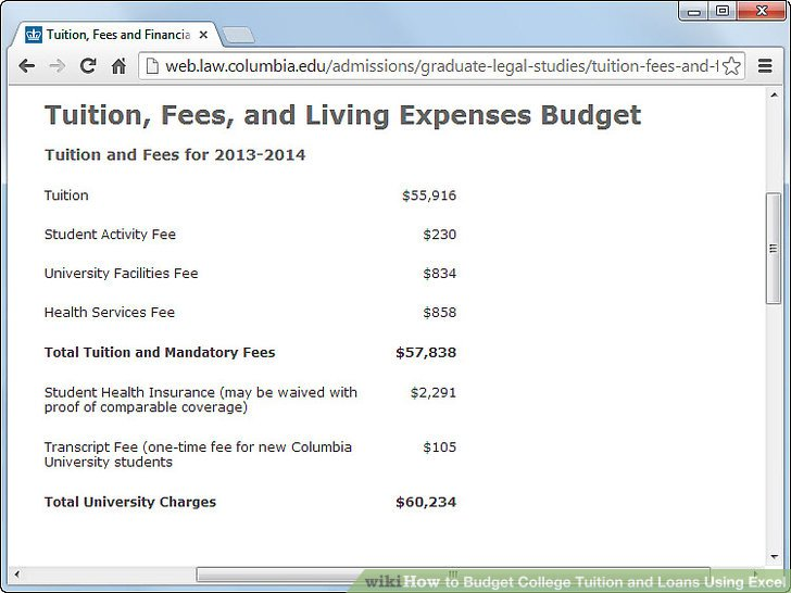 How to Budget College Tuition and Loans Using Excel 10 Steps