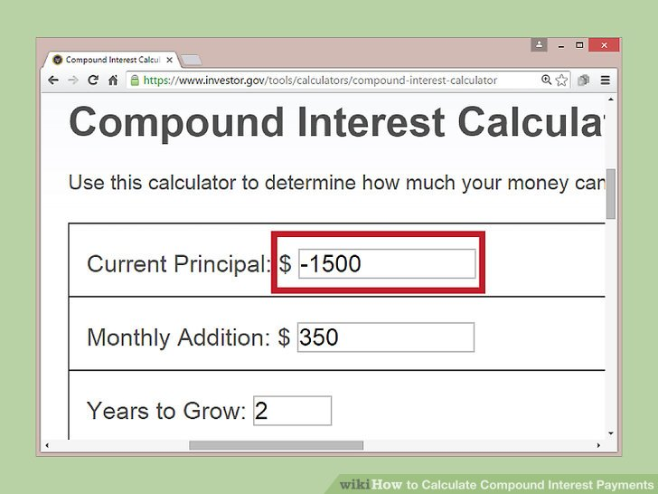 4 Ways to Calculate Compound Interest Payments - wikiHow - college loan interest calculator