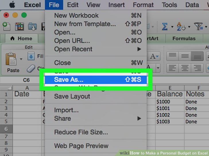 How to Make a Personal Budget on Excel (with Pictures) - wikiHow