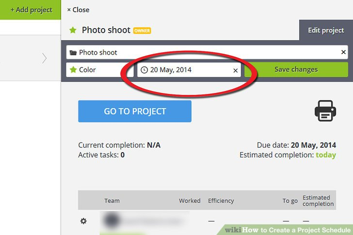 How to Create a Project Schedule 7 Steps (with Pictures) - create schedule