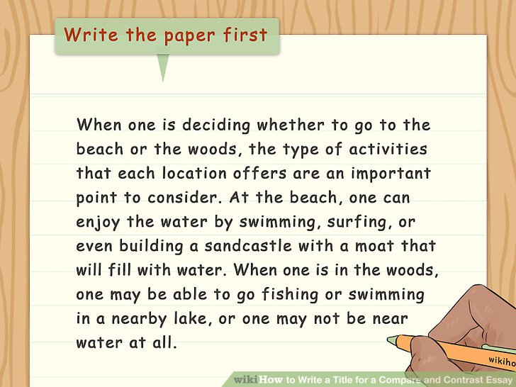 3 Ways to Write a Title for a Compare and Contrast Essay - wikiHow - essay help compare and contrast