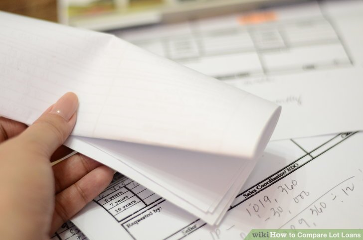 How to Compare Lot Loans 7 Steps (with Pictures) - wikiHow