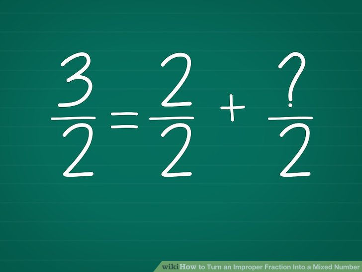 how to turn a fraction into a whole number