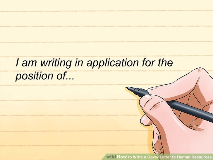 How to Write a Cover Letter to Human Resources (with Sample Cover