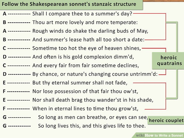 How to Write a Sonnet (with 2 Sample Poems) - wikiHow - how to write a