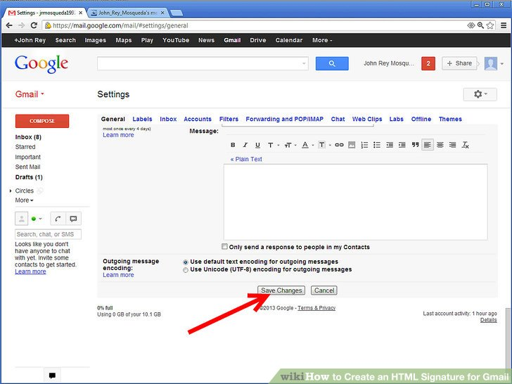 How to Create an HTML Signature for Gmail 8 Steps - wikiHow
