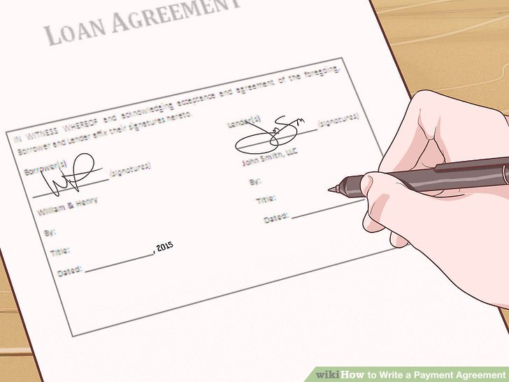 4 Simple Ways to Write a Payment Agreement - wikiHow - agreement