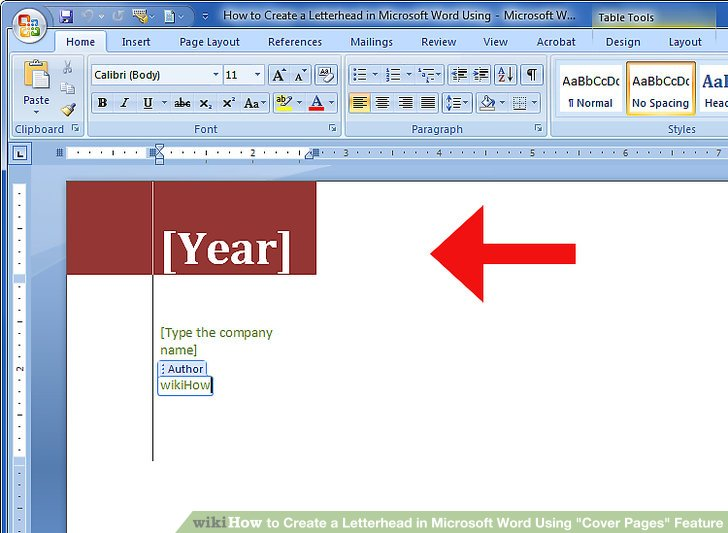 How to Create a Letterhead in Microsoft Word Using \ - make a letterhead in word