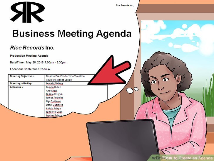 3 Ways to Create an Agenda - wikiHow - how to create a agenda