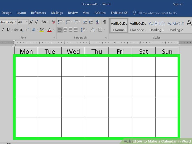 How to Make a Calendar in Word (with Pictures) - wikiHow