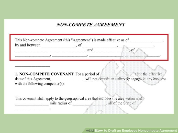 How to Draft an Employee Noncompete Agreement 13 Steps