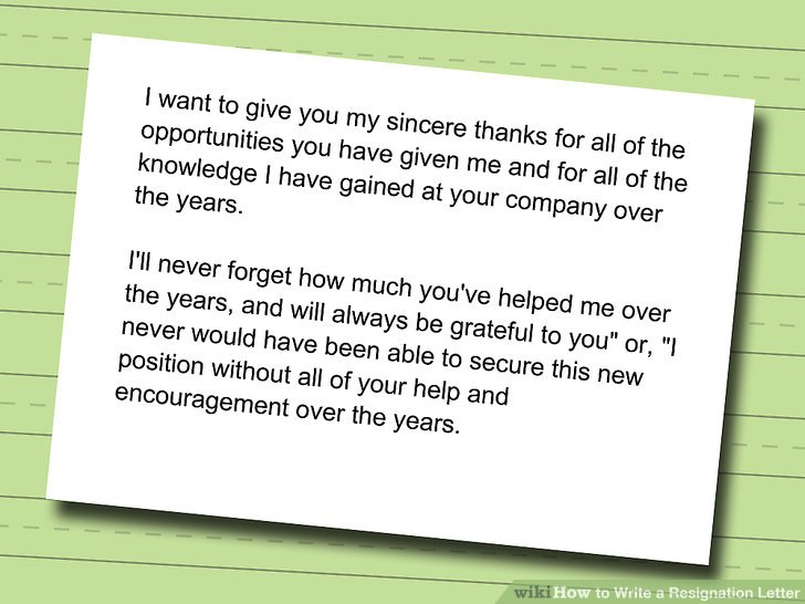 How to Write a Resignation Letter (with Sample) - wikiHow - resignationletter
