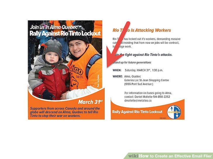 How to Create an Effective Email Flier 14 Steps (with Pictures) - how to make flier
