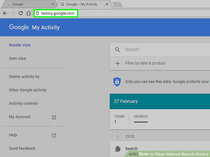 How to Clear Internet Search History 11 Steps (with Pictures)