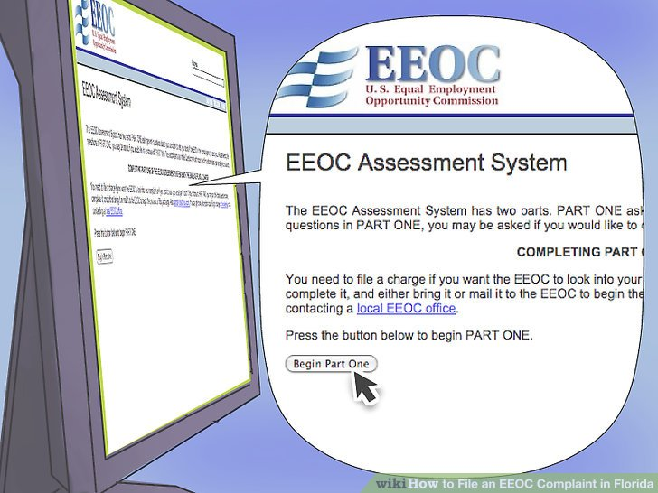 How to File an EEOC Complaint in Florida (with Pictures) - wikiHow - eeoc complaint form