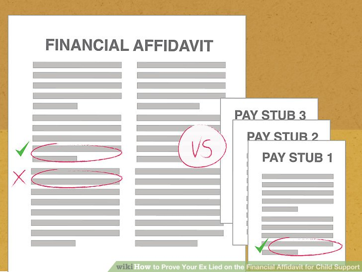 How to Prove Your Ex Lied on the Financial Affidavit for Child Support - financial declaration form