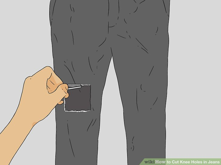 How To Cut Knee Holes In Jeans 12 Steps With Pictures