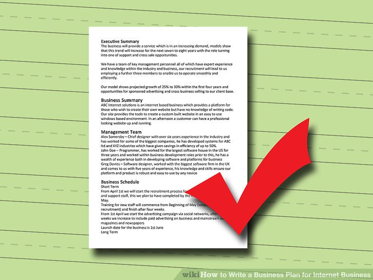 How to Write a Business Plan for Internet Business 8 Steps - how to write a