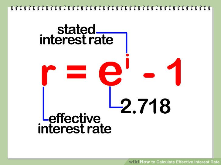 How to Calculate Effective Interest Rate 7 Steps (with Pictures) - annual interest rate formula