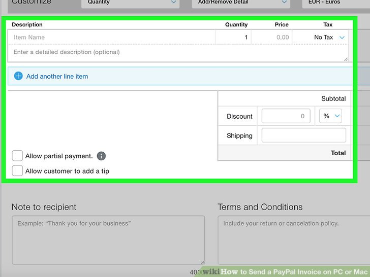 How to Send a PayPal Invoice on PC or Mac 7 Steps (with Pictures)