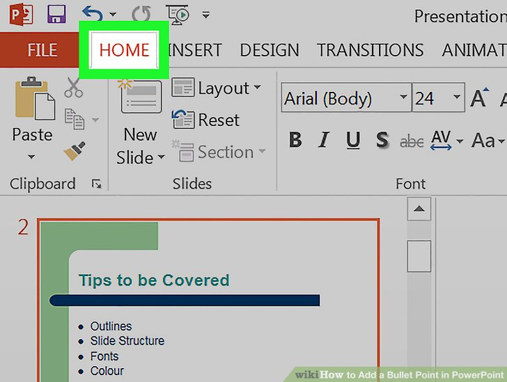 How to Add a Bullet Point in PowerPoint 6 Steps (with Pictures)