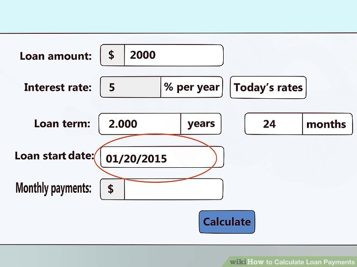 4 Ways to Calculate Loan Payments - wikiHow - loan interest calculator