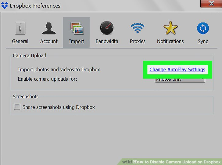 How To Disable Camera Upload On Dropbox With Pictures
