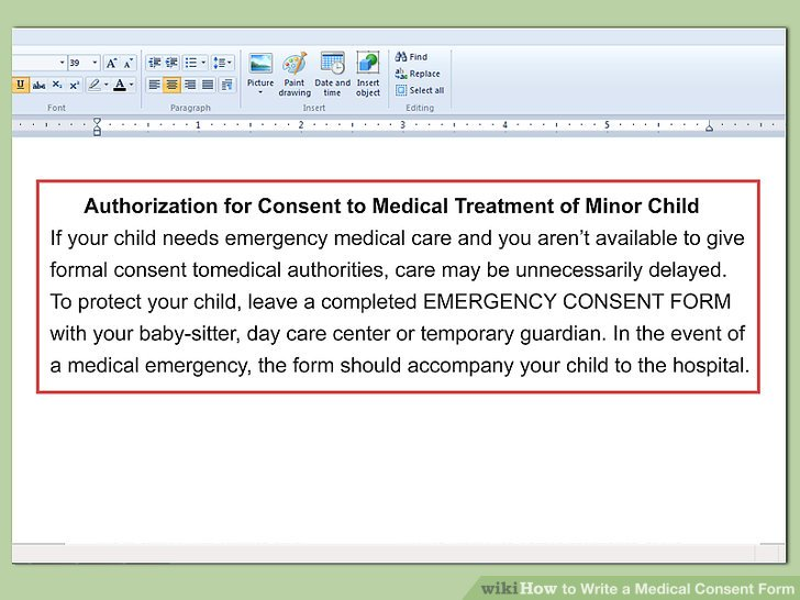 How to Write a Medical Consent Form (with Pictures) - wikiHow