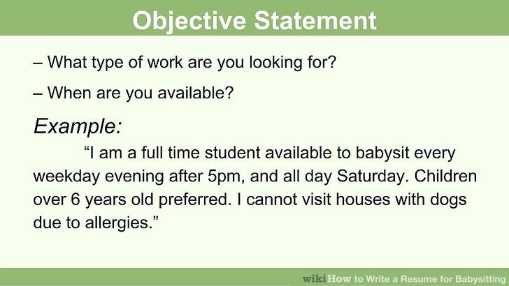 How to Write a Resume for Babysitting (with Pictures) - wikiHow